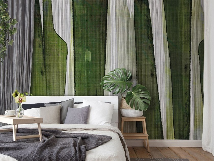 Vinyl or fyber glass wallpaper TEXTILE GREENVISION by N.O.W. Edizioni