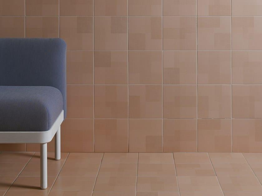Pavimento/rivestimento in gres porcellanato per interni ed esterni TEXTILE by Harmony