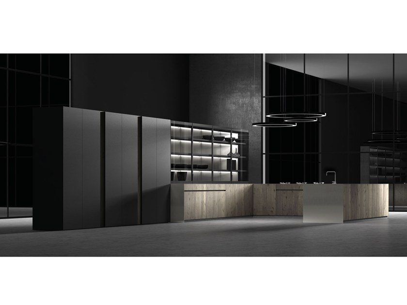 Wooden fitted kitchen TEXTURA OCEANIC NODES TINT by Doca