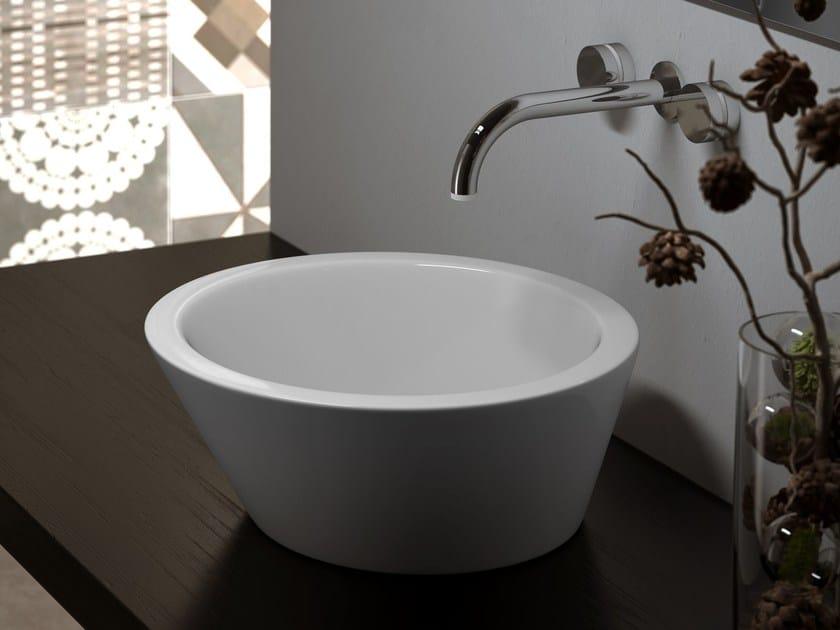 Countertop washbasin TEXTURE | Countertop washbasin by Olympia Ceramica
