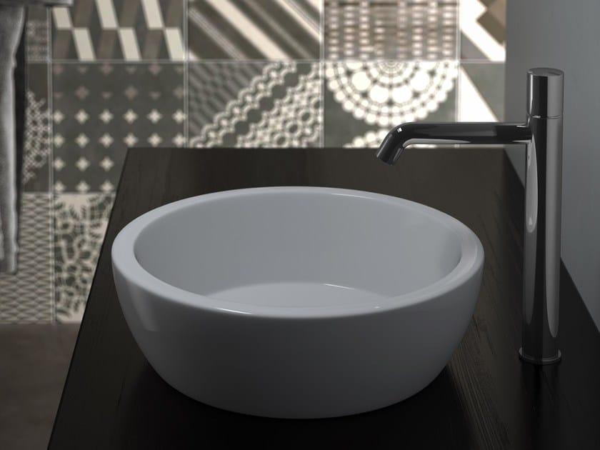 Countertop round washbasin TEXTURE   Countertop washbasin by Olympia Ceramica
