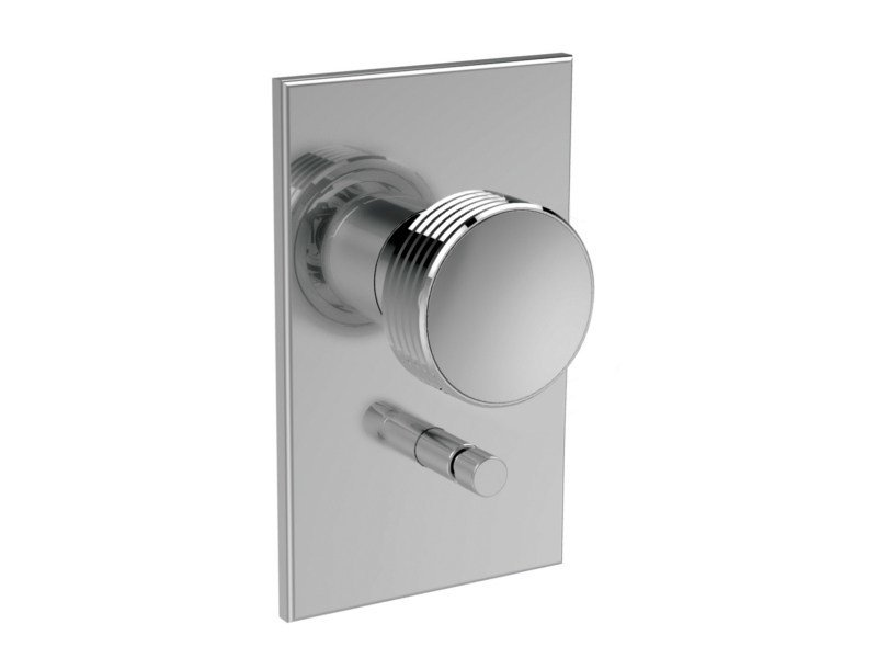 Wall-mounted chromed brass remote control tap TEXTURE F5609X2 | Remote control tap by FIMA Carlo Frattini