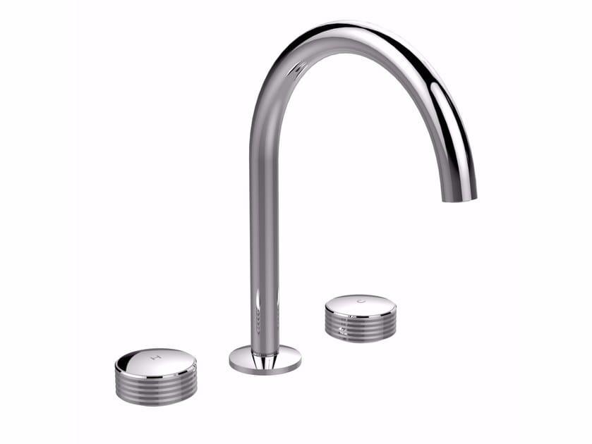3 hole washbasin tap with brushed finishing TEXTURE F5611 | Washbasin tap by FIMA Carlo Frattini
