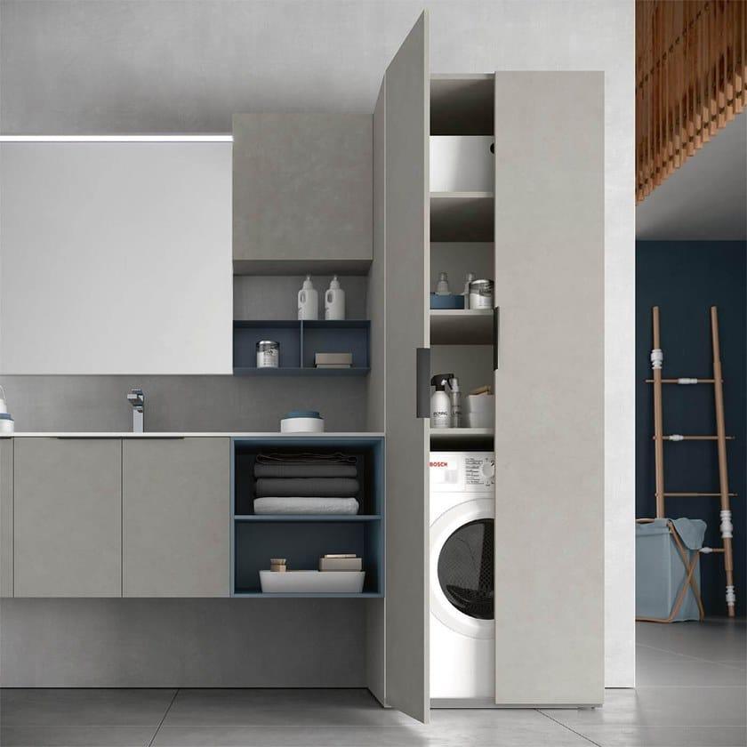 Waschküchenmöbel mit Spiegel für Waschmaschine THAI 327 By RAB ...