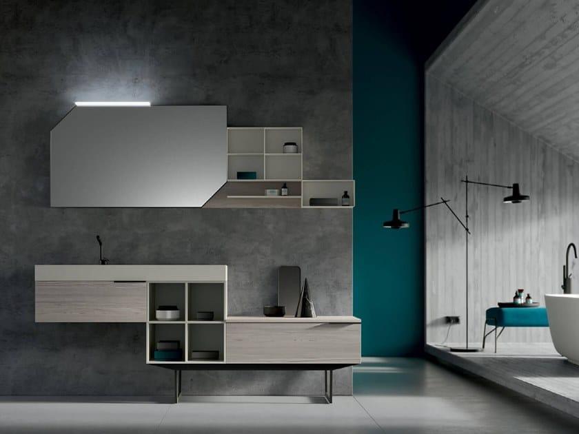 Floor-standing vanity unit with mirror THAI 310 by RAB Arredobagno