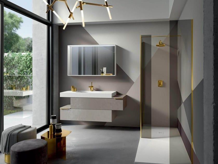 Wall-mounted vanity unit THAI 313 by RAB Arredobagno