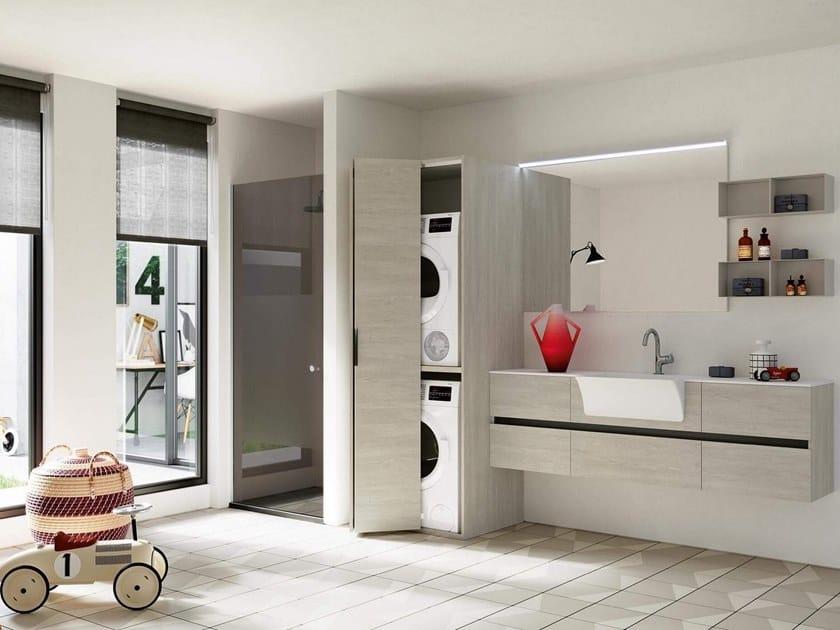 Mobile lavanderia con lavatoio per lavatrice THAI 325 - RAB Arredobagno