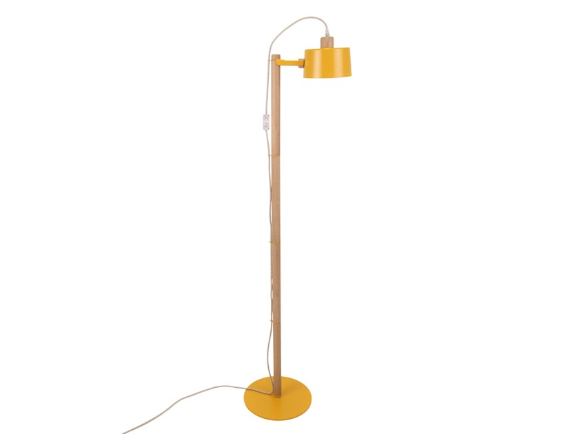 Direct light adjustable metal floor lamp THAIS by Dizy