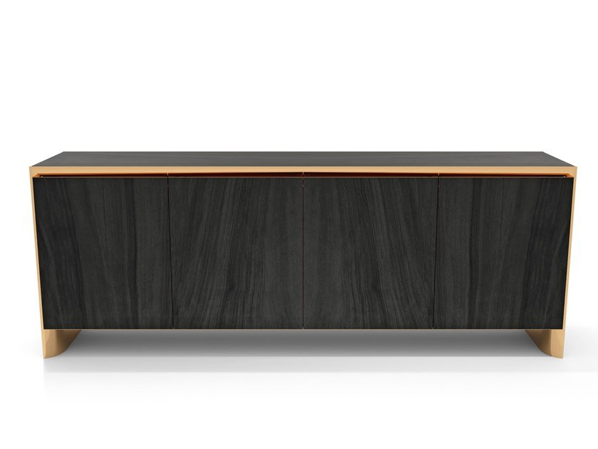 Wooden sideboard with doors THAMOS by Visionnaire