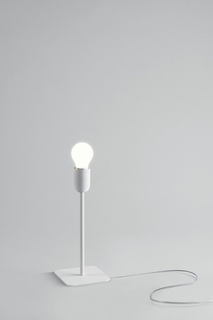 Led table lamp thank you tab naked by linea light group