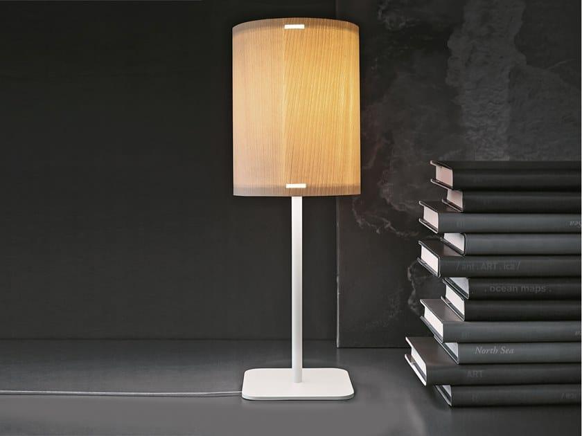 Lampada da tavolo a LED in legno THANK YOU_TAB by Linea Light Group