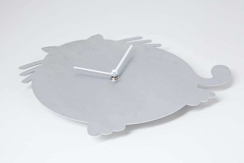 In Design Cat Animals Parete Round The Alluminio Orologio Da b76yYfgv