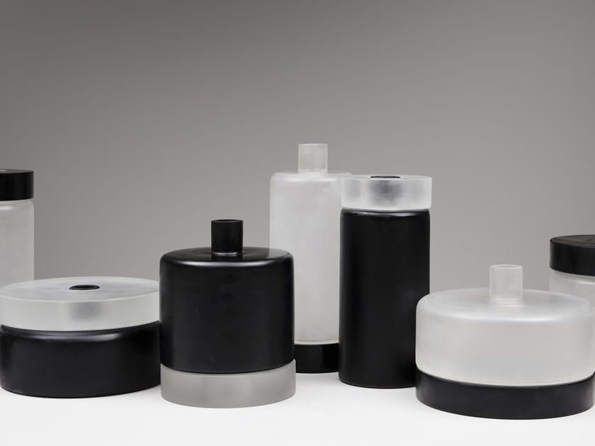 Vase aus Glas THE CYLINDER GLASS by Mutina