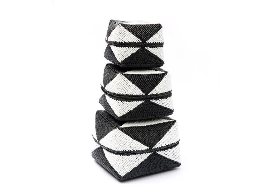 Bamboo jewel box DIAMOND BLACK & WHITE by Bazar Bizar