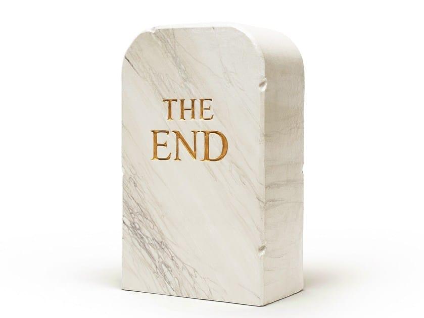 Polyurethane stool / sculpture THE END 1516 by Gufram