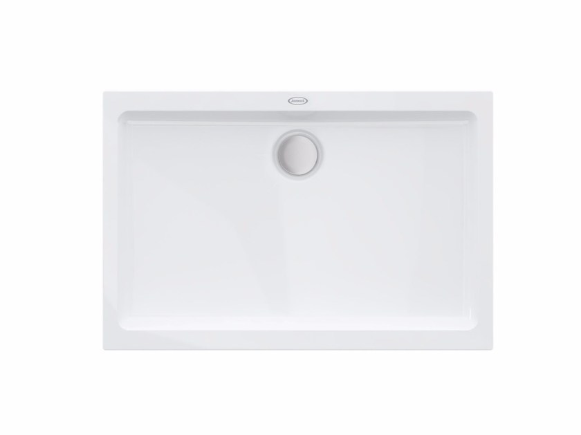 Rectangular acrylic shower tray THE ESSENTIALS | Shower tray by Jacuzzi