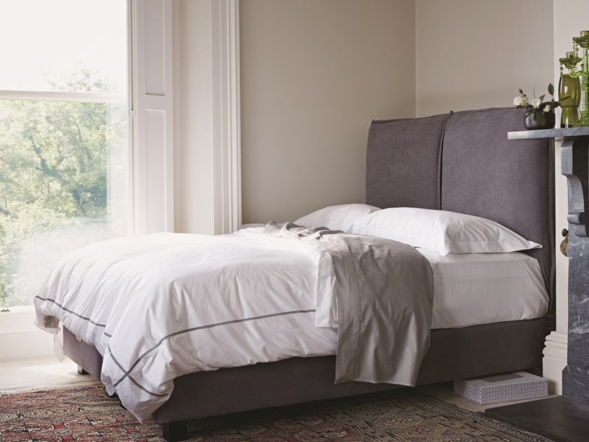 Upholstered fabric bed with upholstered headboard THE FIADOR | Bed by Naturalmat