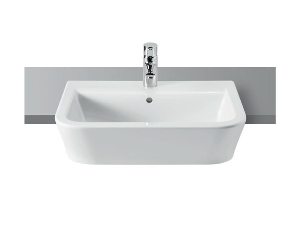 Semi-inset single washbasin THE GAP | Semi-inset washbasin by ROCA SANITARIO