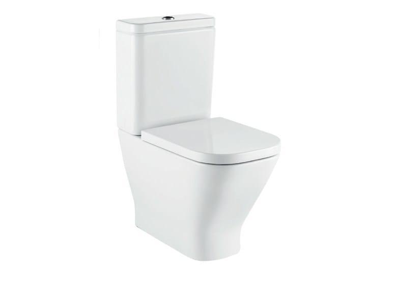 Close coupled ceramic toilet with external cistern THE GAP | Toilet with external cistern by ROCA SANITARIO