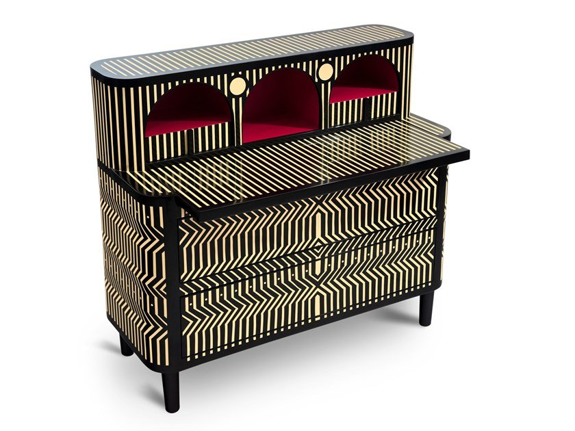 Secretary desk with drawers THE GENERAL by Scarlet Splendour