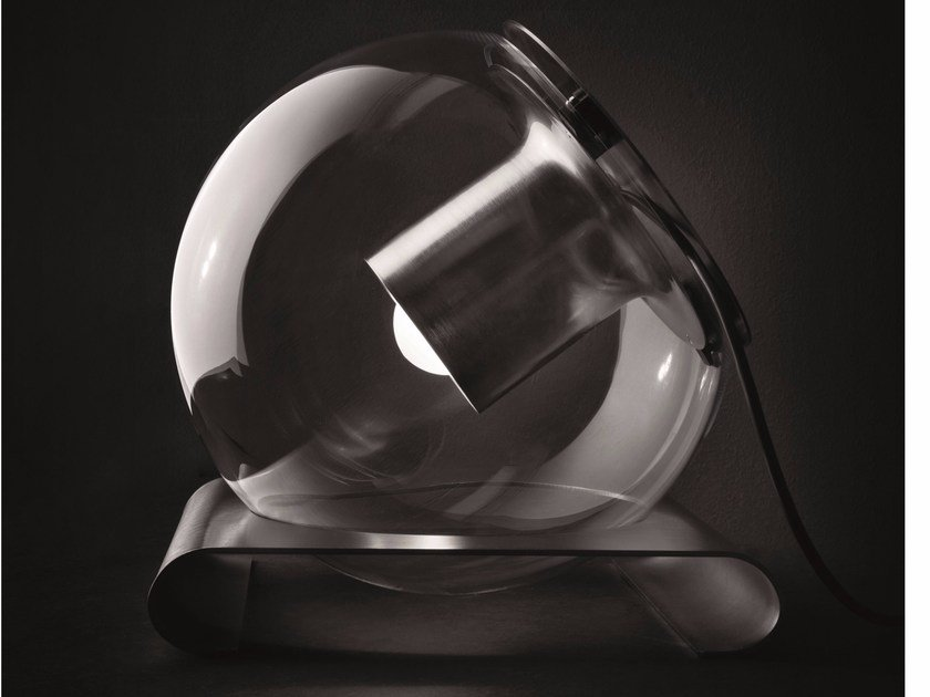 Blown glass table lamp THE GLOBE - 228 by Oluce