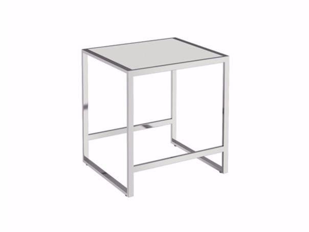 Stainless steel bathroom stool THE GRID | Bathroom stool by Cosmic