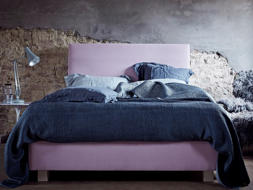 Upholstered fabric bed with upholstered headboard THE HALYARD | Bed by Naturalmat