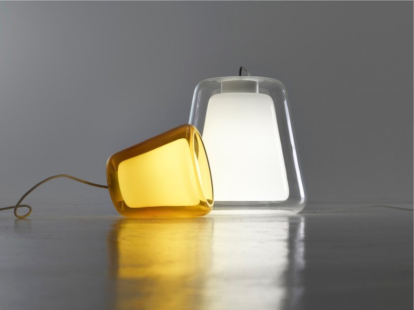 Glass pendant lamp / floor lamp THE LOVERS by PER-USE