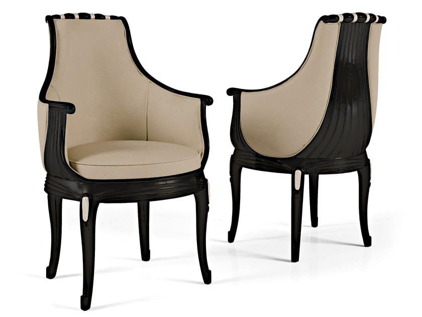 Sedia imbottita in pelle con braccioli THE MAJESTIC | Sedia in pelle by Bellotti Ezio