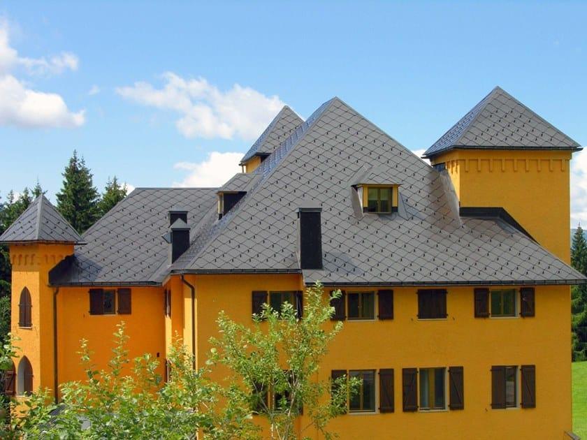Rivestimento di copertura con scandole metalliche modulari THE SKIN SISTEMA SCANDOLE by Mazzonetto