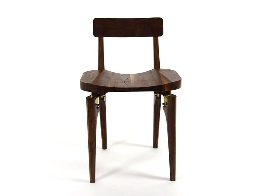 Walnut chair THE WALNUT BUTCHER BLOCK CHAIR by KHEM Studios