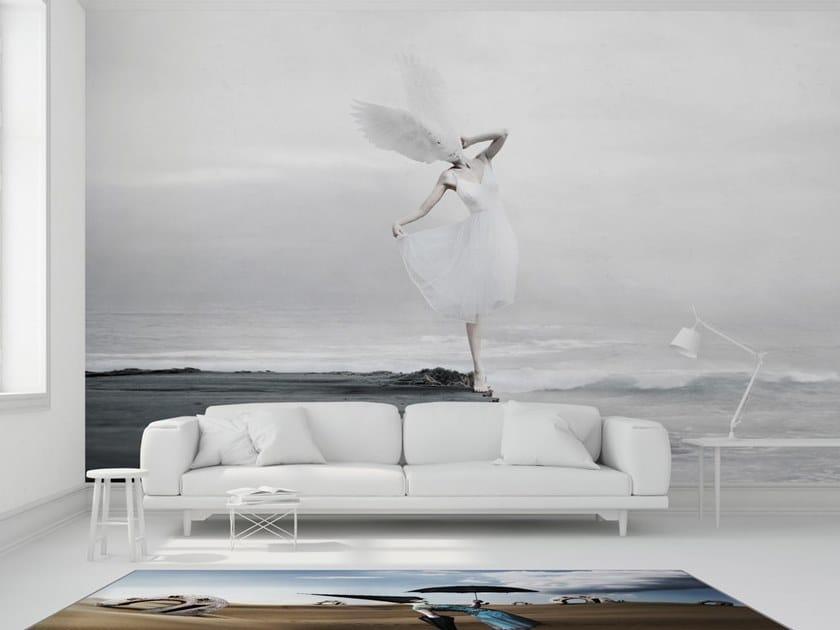 Landscape vinyl wallpaper THE WHITE SKY XIX by Mineheart