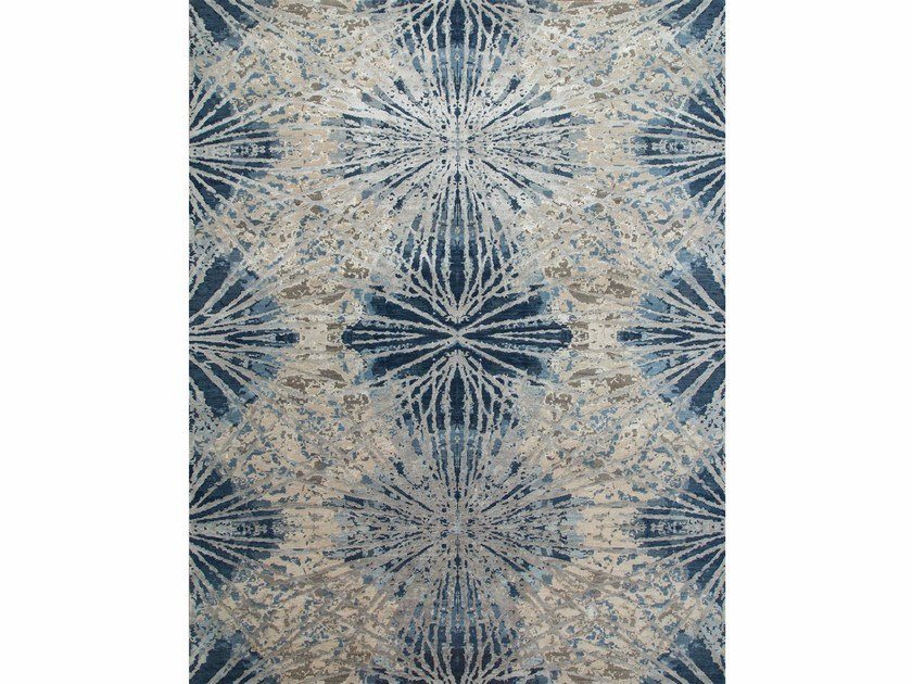 Patterned rug THEA ESK-400 Classic Gray/Denim Blue by Jaipur Rugs