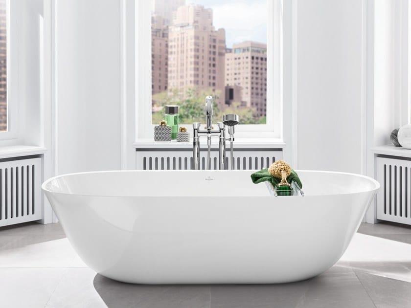 Freestanding Quaryl® bathtub THEANO | Quaryl® bathtub by Villeroy & Boch
