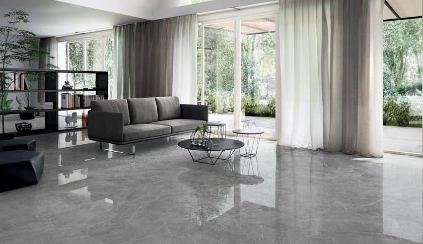 Ufficio Pavimento Grigio : Pavimento rivestimento in gres porcellanato effetto marmo themar