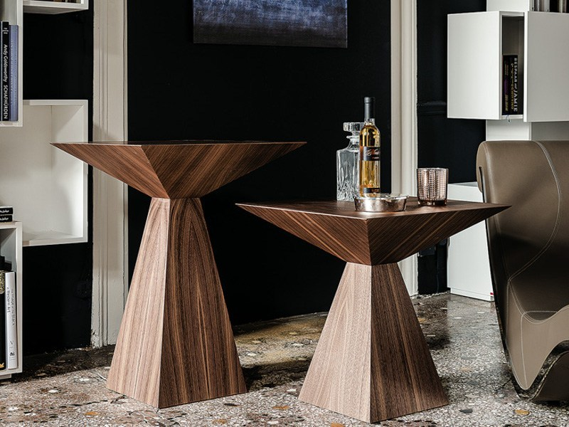 Square walnut coffee table THEO by Cattelan Italia