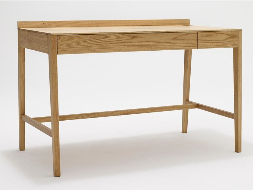 Rectangular solid wood writing desk with drawers THEO DESK | Solid wood writing desk by sixay furniture