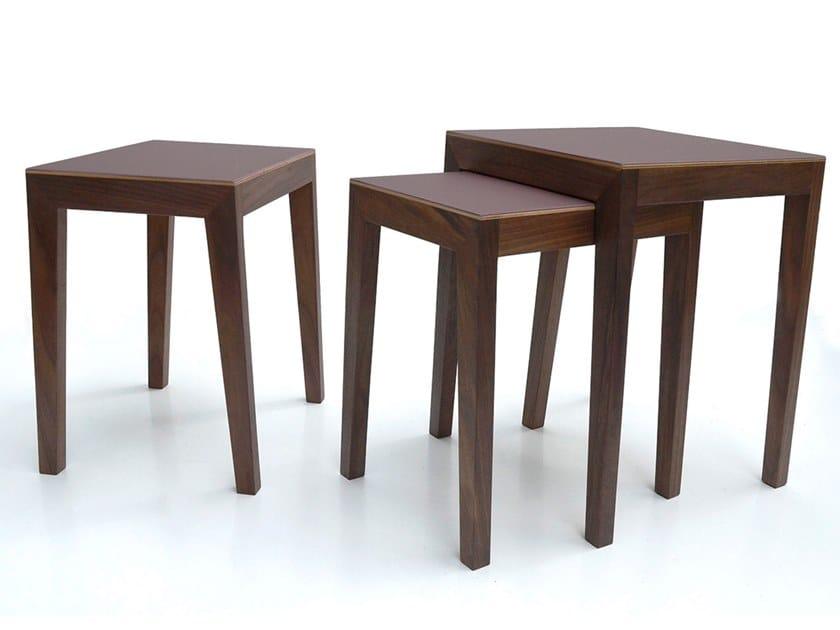 Theo Massello In Legno Nest Tavolino Of Basso Furniture Sixay Table Impilabile OXikPZu