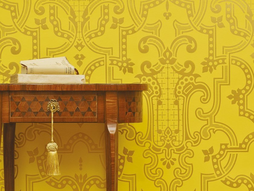 Motif non-woven paper wallpaper THEODORE by Isidore Leroy
