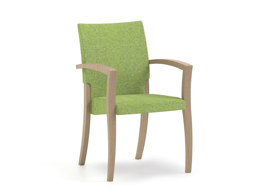Stackable fabric chair with armrests THEOREMA | HEALTH & CARE | Chair with armrests by PIAVAL