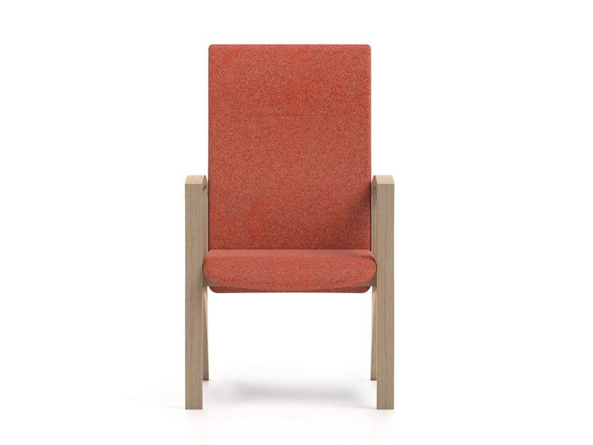 Ergonomic high-back fabric armchair THEOREMA | HEALTH & CARE | Ergonomic armchair by PIAVAL