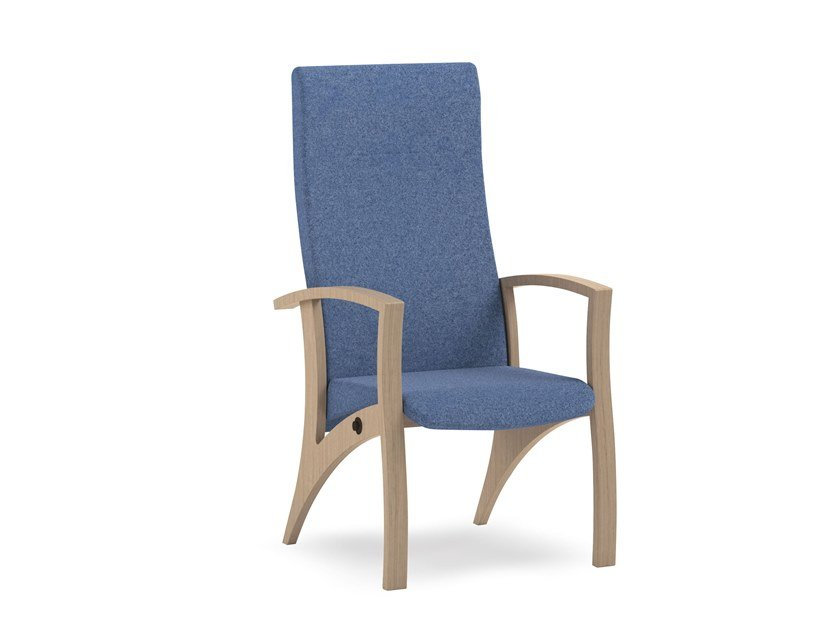 Recliner high-back fabric chair THEOREMA | HEALTH & CARE | Recliner chair by PIAVAL