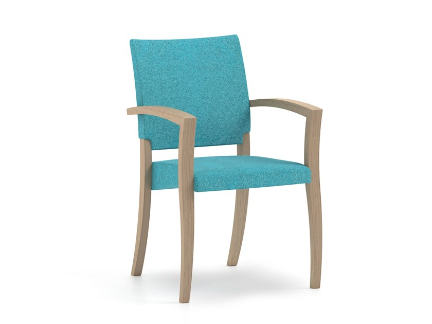 Stackable fabric chair with armrests THEOREMA | HEALTH & CARE | Stackable chair by PIAVAL