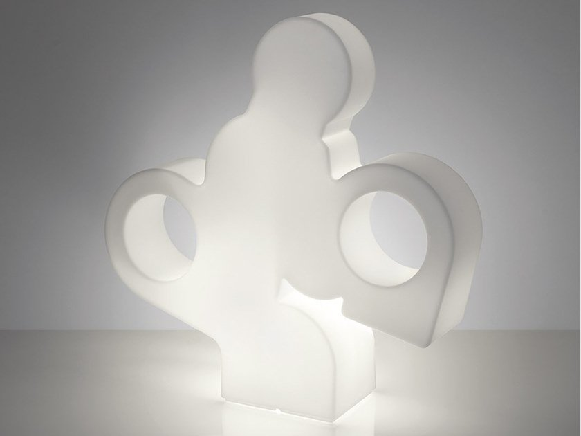 Polyethylene floor lamp THERE by SLIDE