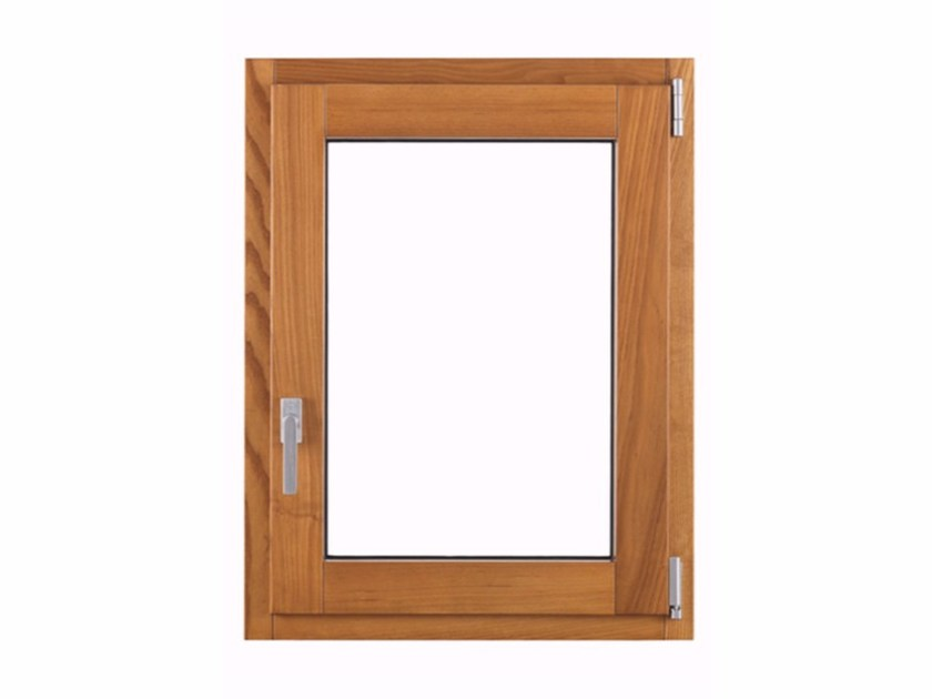 Aluminium and wood top-hung window THERMIC by FOSSATI PVC