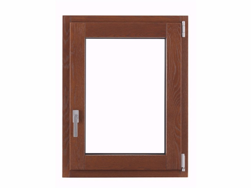 Aluminium and wood top-hung window THERMIC PLUS by FOSSATI PVC