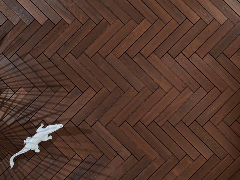 Ash decking THERMO HERRINGBONE by Sapiens