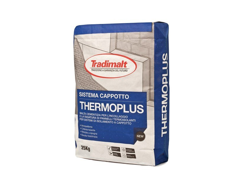 Smoothing compound / Cement-based glue THERMO PLUS BIANCO by TRADIMALT