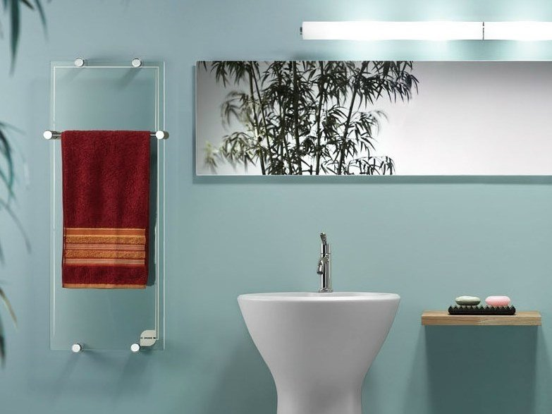 Infrared wall-mounted towel warmer THERMOGLANCE ® 400X1000 | Towel warmer by Thermoglance®