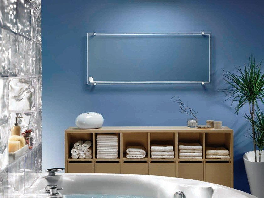 Horizontal wall-mounted decorative radiator THERMOGLANCE ® 600X1500 | Horizontal decorative radiator by Thermoglance®